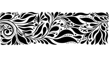 het elegante abstracte patroon van grensbladeren vector