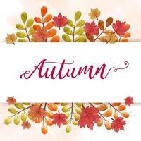 herfst verkoop banner in aquarel kleurstijl