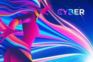 cyber themaontwerp vector