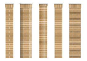 set van texturen van baksteen klassieke kolommen