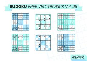 Sudoku Gratis Vector Pack Vol. 26