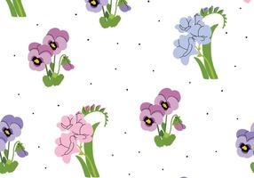 Delicate Pansy Patroon