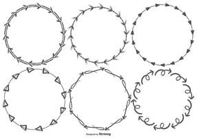 Schetsmatige pijl vector frames