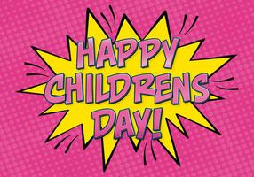 Comic Style Kinderdag Illustratie