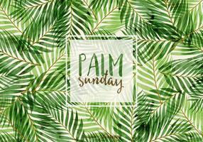 Vector palm zondag illustratie