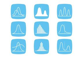 Bell curve iconen