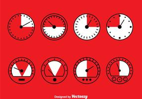 Meter collectie set vector