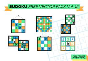 Sudoku Gratis Vector Pack Vol. 12