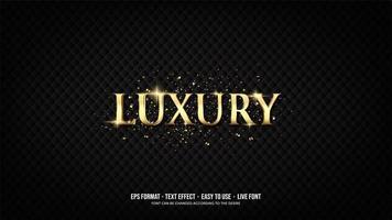 teksteffect met luxe gouden letters