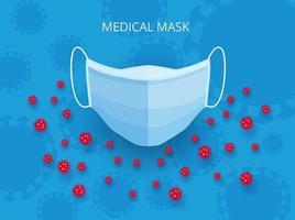 cartoon stijl medisch masker vector