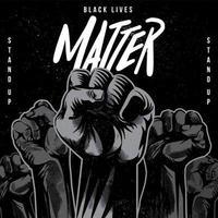 black lives matter verhoogde vuist poster
