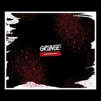 rode grunge splatter in wit frame
