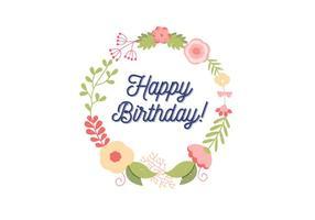 Verjaardagskaart Illustratie vector