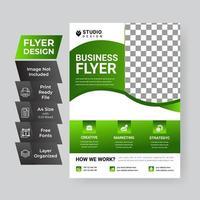 groene bedrijfsvlieger sjabloon vector