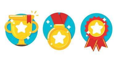 gouden trofee de prijs van het succes