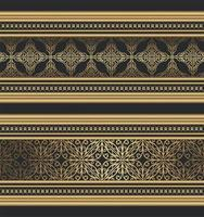 mooie gouden sierrand vector