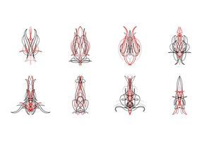 Gratis Pinstripes Grafische Vector