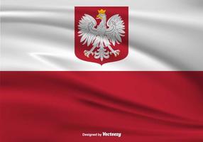 Poolse Eagle Vector Vlag