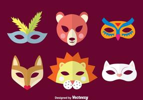 Purim dierlijke masker collectie vector