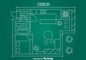Eenvoudig Huis Vloerplan Vector