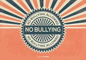 Retro Stijl Geen Bullying Illustratie vector