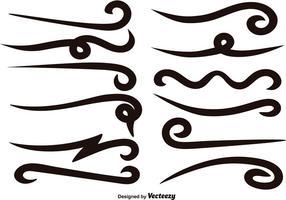 Vector Set Van Zwarte Swishes