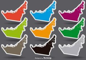 Verenigde Arabische Emiraten Kleurrijke Vector Stickers