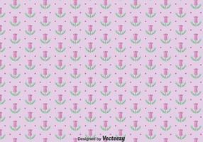 Paarse Thistle Bloemen Naadloos Patroon