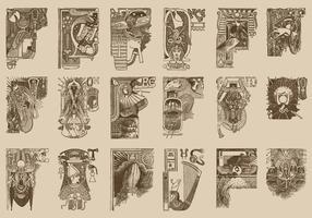 Egyptische Ornamenten vector