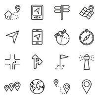 navigatie technologie pictogramserie vector