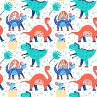 schattig dinosauruspatroon vector