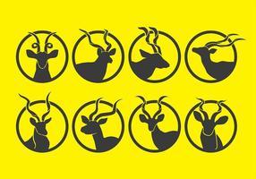 Kudu iconen vector