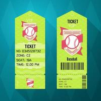 honkbal ticket ontwerp