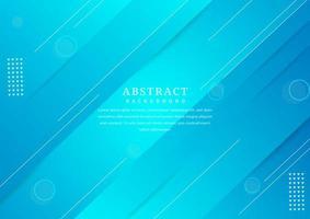 minimaal geometrisch blauw ontwerp met schuine lagen vector
