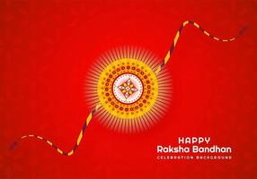 raksha bandhan indisch festivalontwerp op rood vector