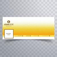 moderne gele gestippelde omslag voor tijdlijnontwerp vector