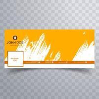 abstract geel penseelstreek hoesontwerp vector
