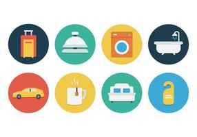 Gratis Flat Hotel Icon Set vector