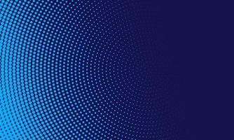 abstracte lichtblauwe stippen in cirkel op marine achtergrond vector