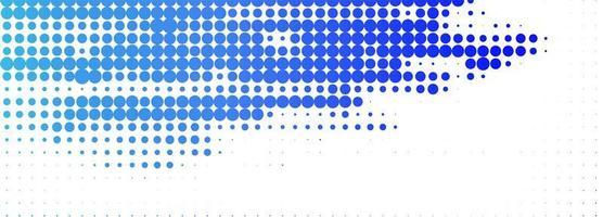 moderne koningsblauw gestippelde banner vector