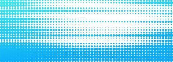 abstracte blauw en wit gestippelde banner achtergrond vector