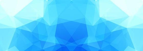 moderne blauwe veelhoekbanner vector