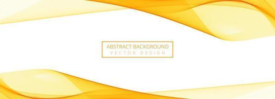 modern stroomt met gele mesh golf banner op wit vector