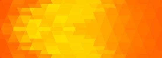 abstracte gele veelhoekige geometrische banner vector