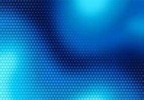moderne blauwe wazig golf met gestippelde technische achtergrond