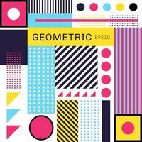 abstracte trendy kleurrijke geometrisch