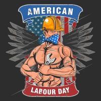Amerikaanse dag van de arbeid vector