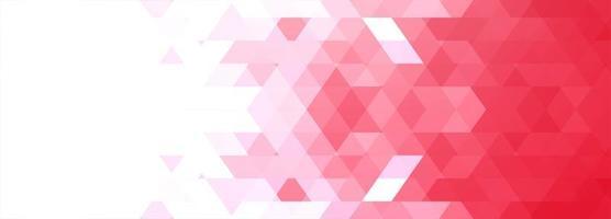moderne donkerroze geometrische banner vector