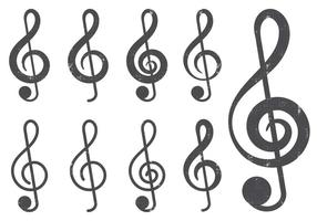 Classic G Clef icoon vector