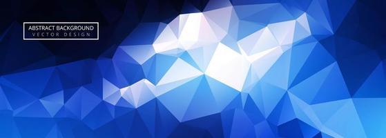 abstracte glanzende blauwe veelhoekbanner vector